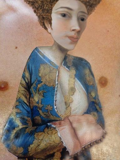 Woman in Blue Robe